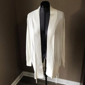 NWOT GAP open front Cardigan White L